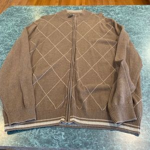 Tasso Elba Zip Up Sweater Jacket XL